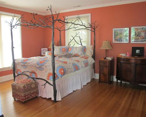Pareti Rosa Camera Da Letto : Camera da letto vittoriana con pareti rosa foto e idee per arredare