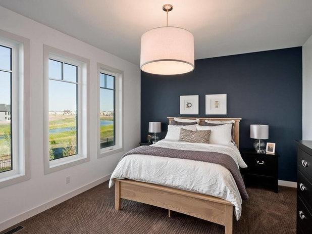 Transitional Bedroom by Lisa Clark Design