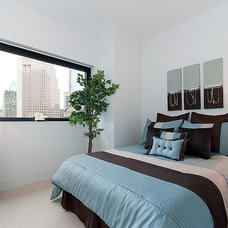Contemporary Bedroom by Private Property Staging
