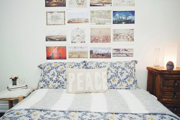 Idee camere da letto arredare la parete di fondo for Parete testiera letto