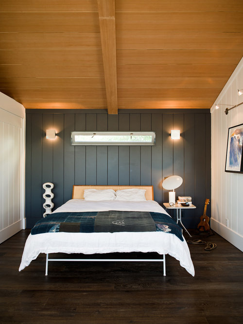 bed with back paneling houzz
