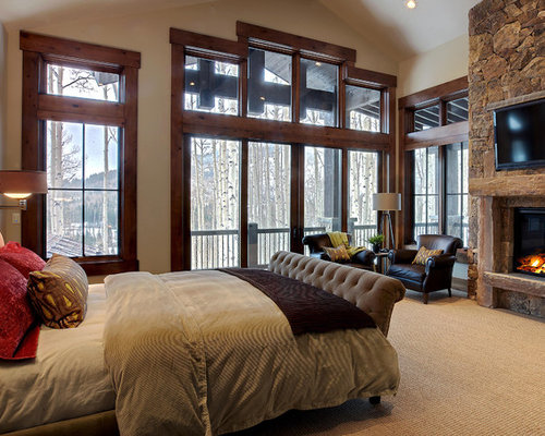 Pine window trim home design ideas pictures remodel and decor for Master bedroom suite decorating ideas