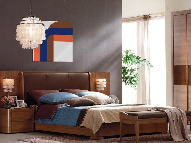 Midcentury Bedroom by Mid Century Art Supergraphics