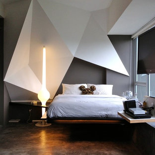 Small contemporary bedroom in Singapore.
