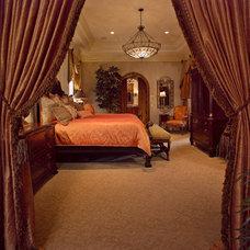 Mediterranean Bedroom by Keesee and Associates, Inc.