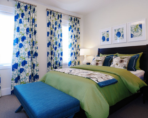 royal blue bedroom design ideas, remodels & photos | houzz