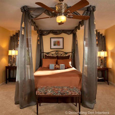 Traditional Bedroom by DECORATING DEN INTERIORS ValleyDesignTeam, NE Ohio