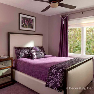 Example of a trendy bedroom design in Cleveland
