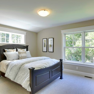 Bedroom - traditional bedroom idea in Minneapolis with gray walls