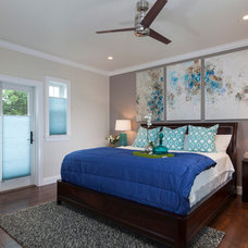 Transitional Bedroom by NWC Construction