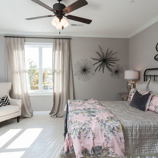 Inspiration for a transitional bedroom remodel in Other