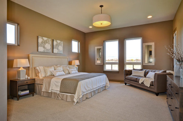 Contemporary Bedroom by Boise Hunter Homes
