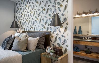 Decora el dormitorio de casa con papel pintado
