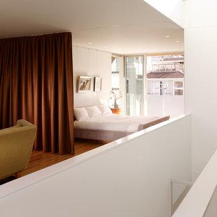 Diseño de dormitorio tipo loft actual