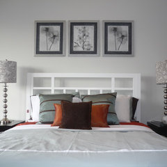eclectic bedroom by Busybee Design