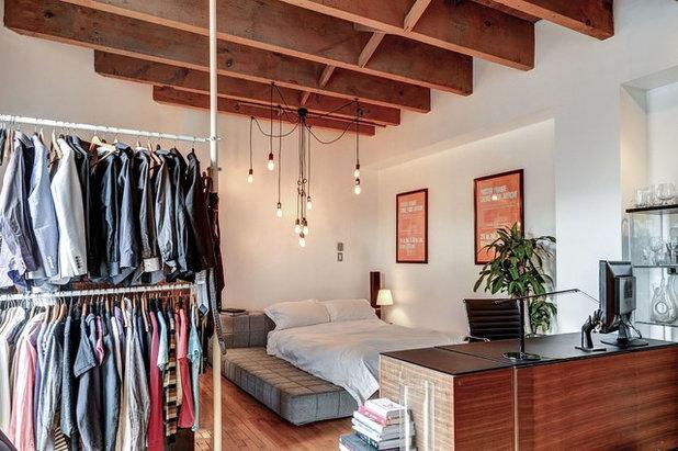 Industrial Bedroom by Big Panda Design