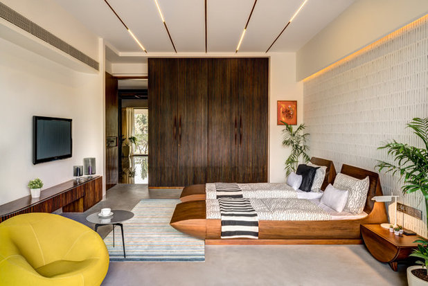 Asian Bedroom by studio HINGE