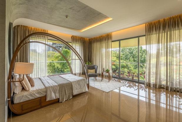 Asian Bedroom by studio HINGE