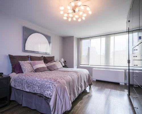 Pareti Viola E Lilla : Camera da letto con parquet scuro e pareti viola foto e idee per