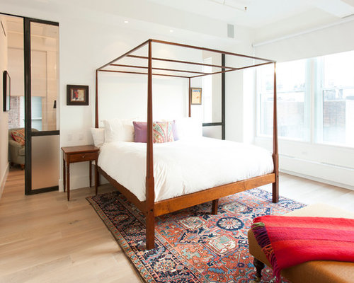 Inspiration for a contemporary master bedroom remodel in New York. Stylish Bedrooms   Houzz