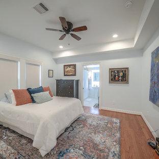 Bedroom - shabby-chic style bedroom idea in Houston