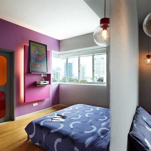 Eclectic bedroom in Singapore.