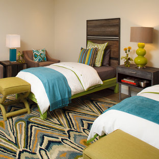 Example of a trendy guest bedroom design in Other