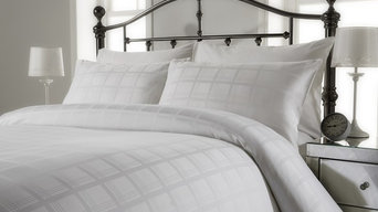 300 thread count pure cotton jacquard check duvet cover set