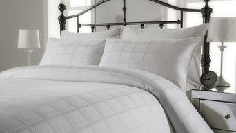 300 thread count pure cotton jacquard check duvet cover set