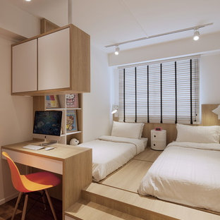 Photo of a scandinavian bedroom in Singapore.