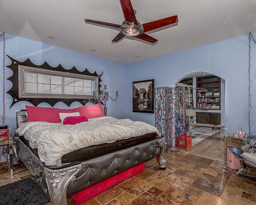 southwestern blue bedroom design ideas remodels photos houzz
