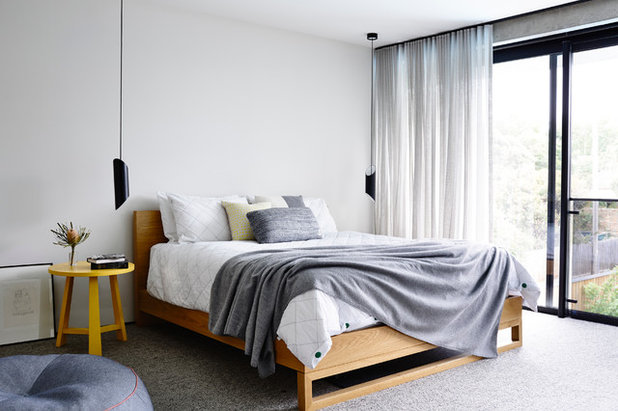 Contemporary Bedroom by mckimm residential design. 14 Creative Ways to Pull Off Bedside Pendant Lights