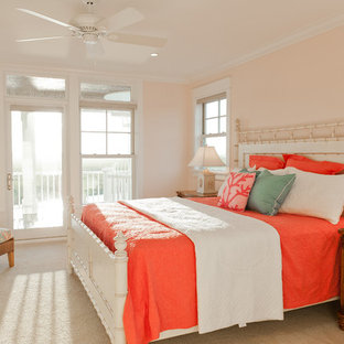 Marvelous Inspiration For A Timeless Carpeted Bedroom Remodel In Other With Pink Walls