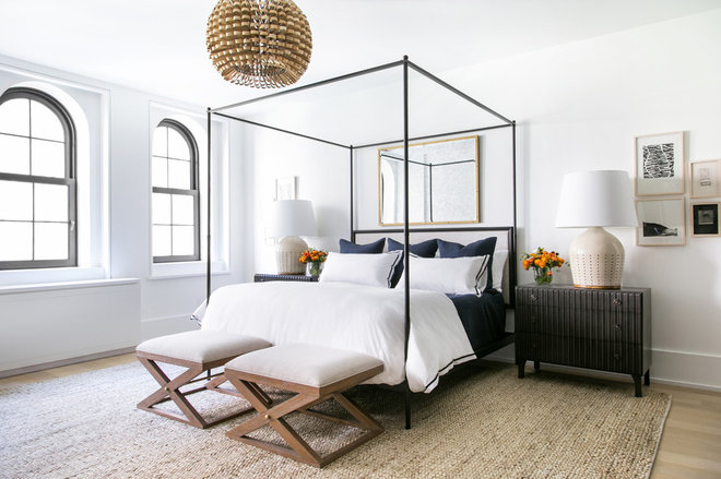 Transitional Bedroom by Chango & Co.
