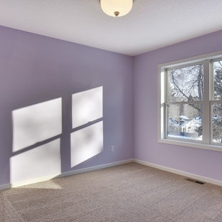 Design ideas for an arts and crafts bedroom in Minneapolis.