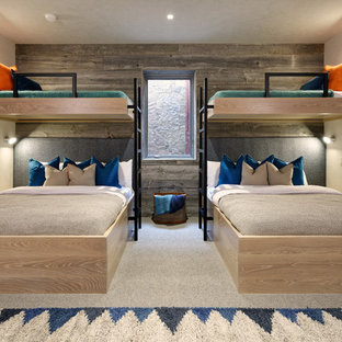 Inspiration for a contemporary guest bedroom remodel in Denver