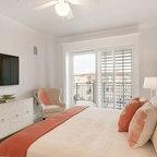 Modern Nantucket Renovation Beach Style Bedroom