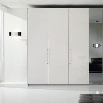 6 Doors Modern Bedroom Closet Bony-Mirror by Spar, Italy - $4,989.00