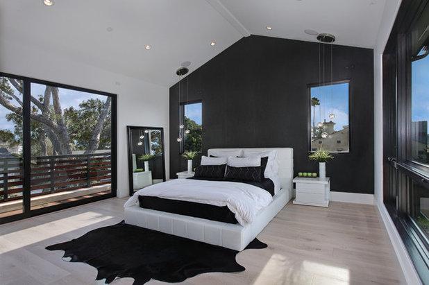 Perch dipingere una parete di nero 7 motivi validi senza essere dark - Camera da letto nera e bianca ...