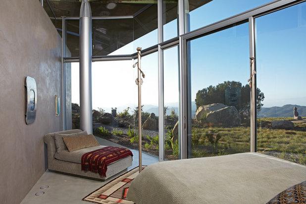 Contemporary Bedroom by David Hertz & Studio of Environmental Architecture