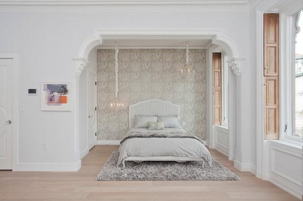 Transitional Bedroom by Jensen C. Vasil  Architect PC