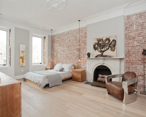 terrific exposed brick bedroom wall ideas   Exposed Brick Wall Home Design Ideas, Pictures, Remodel ...