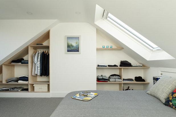 コンテンポラリー 寝室 by fiftypointeight Architecture + Interiors