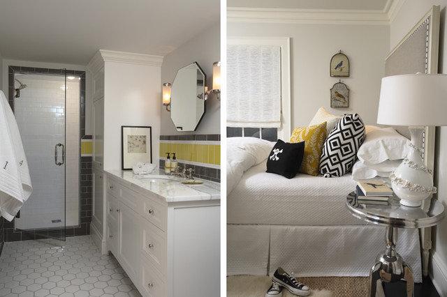 Contemporary Bedroom by Mary Hickey Interiors
