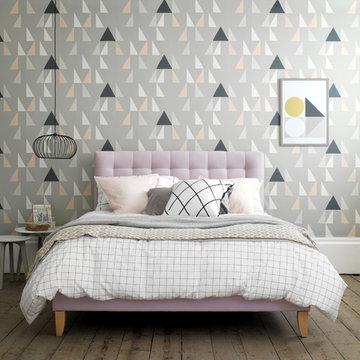 A Contemporary Mid-Century Bedroom