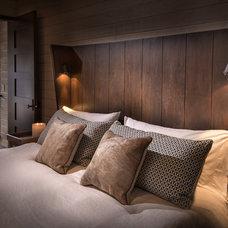 Rustic Bedroom by Jennifer Hoey Interior Design