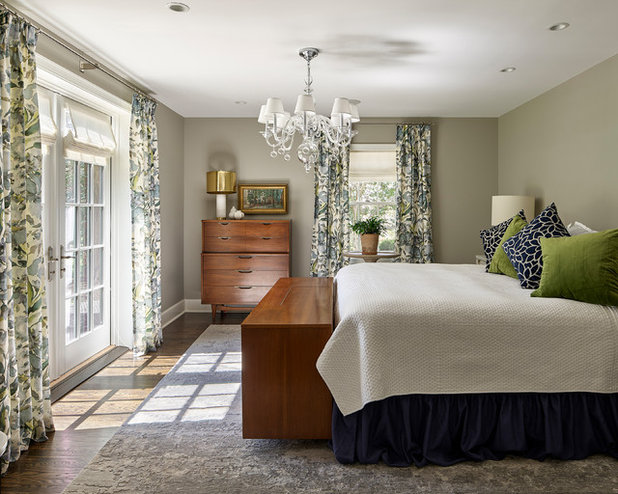 Transitional Bedroom by Krieger + Associates Architects, Inc.