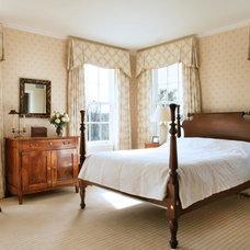 Farmhouse Bedroom by John B. Murray Architect
