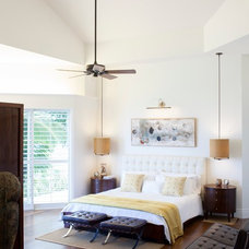 Tropical Bedroom by Barker Kappelle Construction, LLC