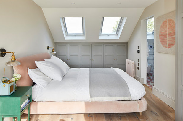 Transitional Bedroom by Ash Island Lofts